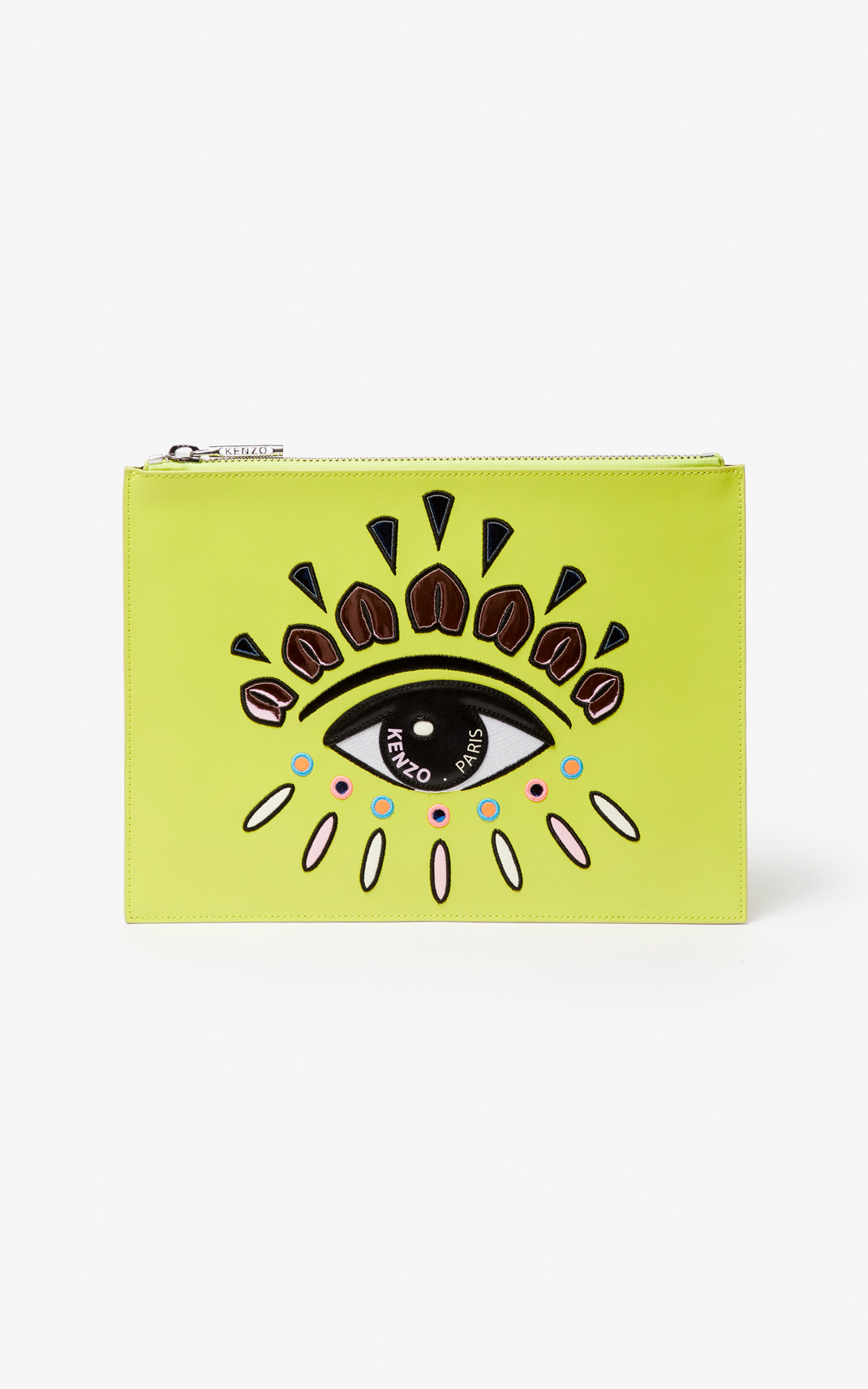 Kenzo A4 Eye Leather Clutch