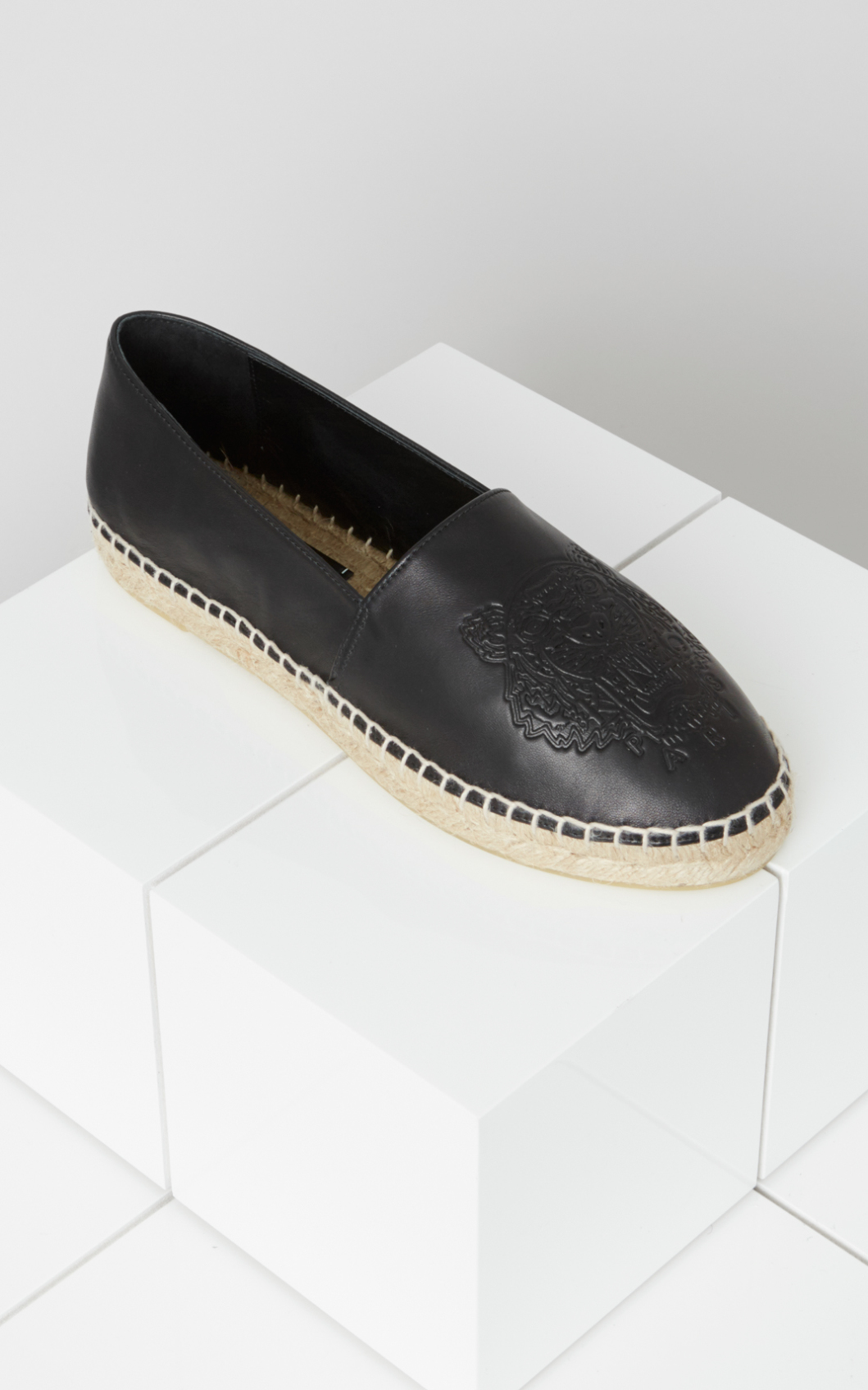Kenzo Tiger Embroidered Espadrilles In