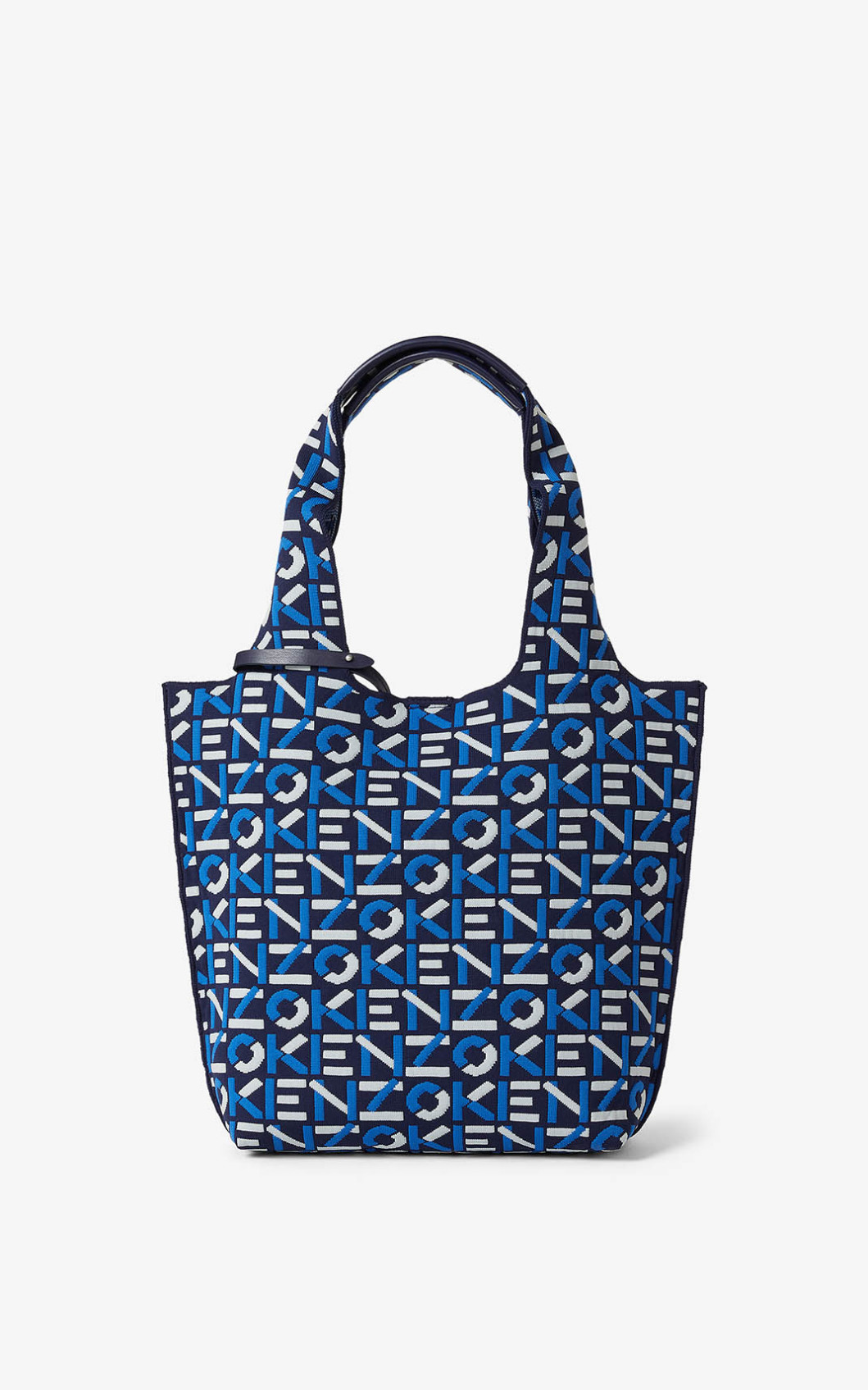 Kenzo Skuba Small Monogram Tote Bag In Blu