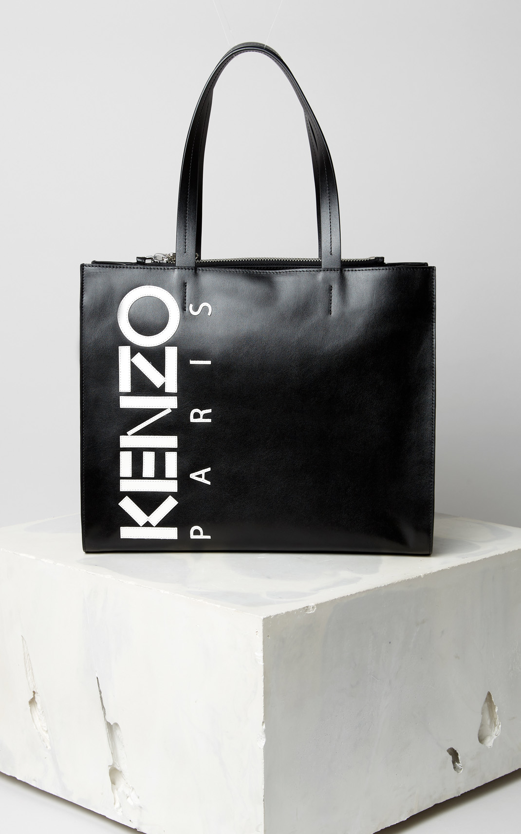 Kenzo Leather  Logo Tote Bag